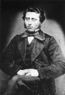 T D Smith as a young man, around 1860