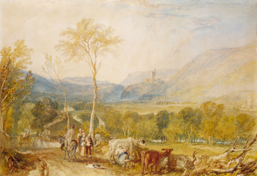 Hornby Castle from Tatham Church 1817-8 by JMW Turner